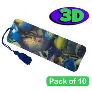 Tropical Fish 3 Dimensional Bookmarks | Packs of 10. Low Cost Party and End of Term Gifts