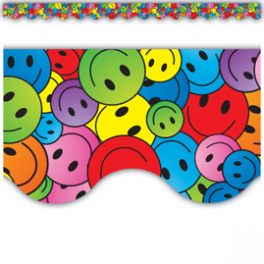 Display Borders | 10.5m Classic Smiley Face Classroom Borders