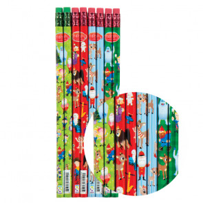 Kids Pencils | Festive snowman design, super shiny foil pencils
