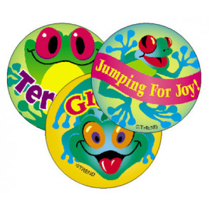 Frolicking Frogs Scratch and Sniff Stickers for Kids (Pineapple Scented)