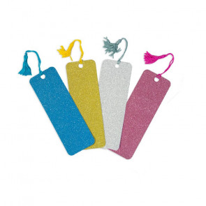 Stationery Gift | Colourful Glitter Bookmarks - 4 Colour Set.