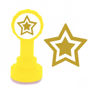 Teacher Stamp | Gold Star Self Inking Xclamations Stamp