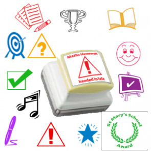 Custom School Stamps | Personalised Marking and Praise Stamps - Older Design Image Options
