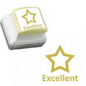 Teacher Stamps | Gold Star, Excellent Large Self-inking Stamp