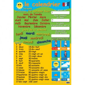 School Educational Posters | French Calendar and Numbers for Classroom Displays