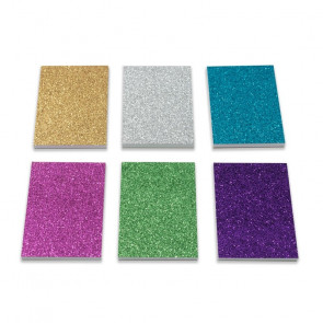 Stationery Gift | Small Colourful Glitter Memo Notepads