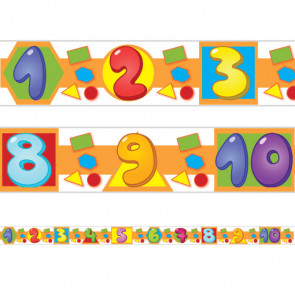 Classroom Borders | Numbers, Shapes and Colours Class Display Borders