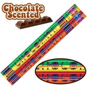 Smelly Pencils   Pack of 144 Chocolate Smelling Pencils. 4 Different Designs Per Pack
