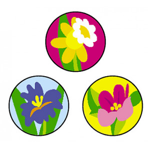 Teacher Reward Stickers | Spring Flowers - Mini
