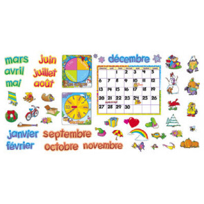 Wall Charts | Large Classroom Display French Calendar Kit