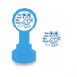 Self-inking Teacher stamper | Bien Joué / Well Done! French Marking Stamp