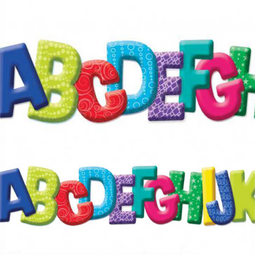 Display borders   A to Z Die Cut Alphabet Trimmer