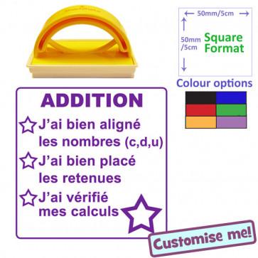 Teacher Stamp | French Language - Maths Checklist - Numeracy