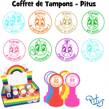 Tampons Enseignants   Coffret Assortiment Tampons-Pitus (Licorne)