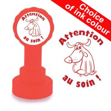 Teacher Stamp | Attention au soin, French Language Teacher Stamp.