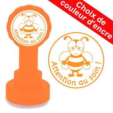Tampon auto-encreur | Attention au soin, Bourdon Mignon