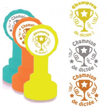 Self-inking Teacher stamper | Star Champion Marking Stamp in Gold Ink
