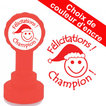 Tampons Encreur Ecole | Félicitations ! Champion ! - Tampon Encreur Enseignants Noël.