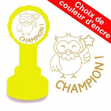 Tampon auto-encreur | Champion ! Hibou Mignon