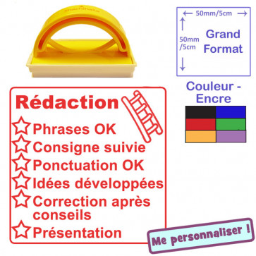 Tampon auto-encreur appréciations pour enseignant   Rédaction (Rouge)