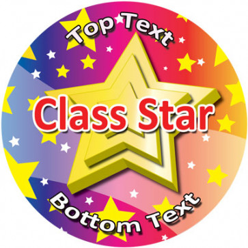 Personalised School Stickers | Class Star Design Custom Standard and Scented Stickers