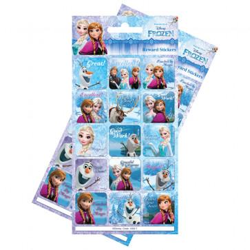Premium Kids Stickers | Disney Frozen Re-usable Large Reward Stickers - 2 Packs