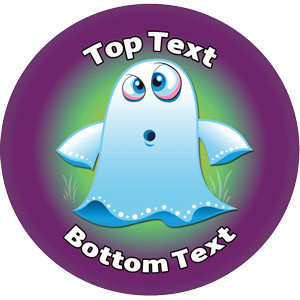 Personalised School Stickers | Halloween Ghost Design Custom Standard and Scented Stickers