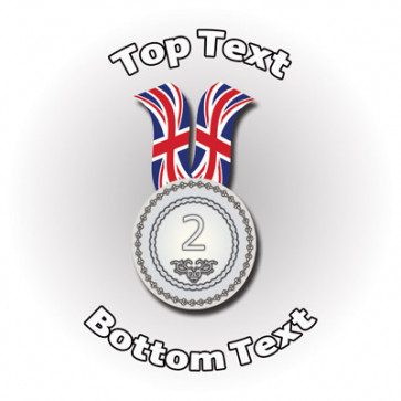 Personalised School Stickers | Sports Silver Medal Design Custom Standard and Scented Stickers