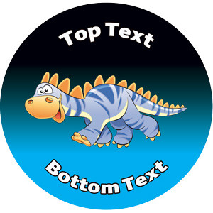 Personalised School Stickers   Dinosaur Dude Design Custom Standard and Scented Stickers