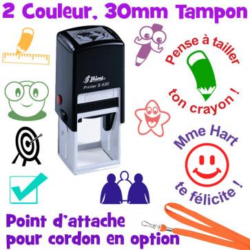 Tampon Auto Encreur Enseignants | Tampon Personnalisé, 2 Couleur, Shiny S-530
