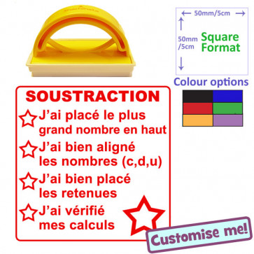 eacher Stamp   French Language - Maths Checklist - Soustraction