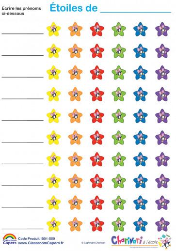 Autocollants |  Étoiles Autocollants de Charivari à l'école