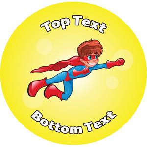 Personalised School Stickers | Superhero! Design Custom Standard and Scented Stickers