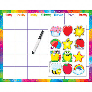 Calendar Wall Chart | Monthly / Daily Calendar Kit with Images and Pen