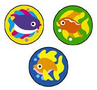 Children's Reward Stickers | Fabulous Fish SuperSpots -  Great for Reward Charts & Crafts