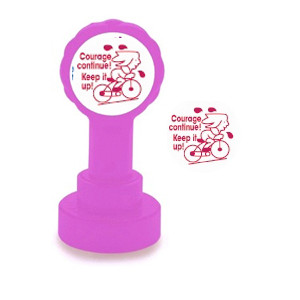 Self-inking Teacher stamper   Courage Continue ! / Keep it up! French Marking Stamp