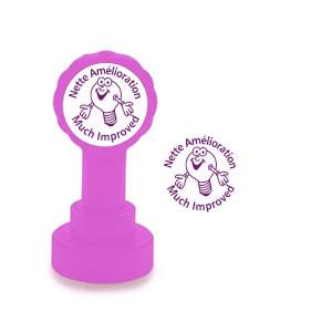 Self-inking Teacher stamper | Nette Amélioration / Much Improved  French Marking Stamp