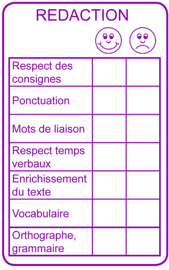 Tampon encreur grille de correction r daction 11x6cm for Redaction sur le respect