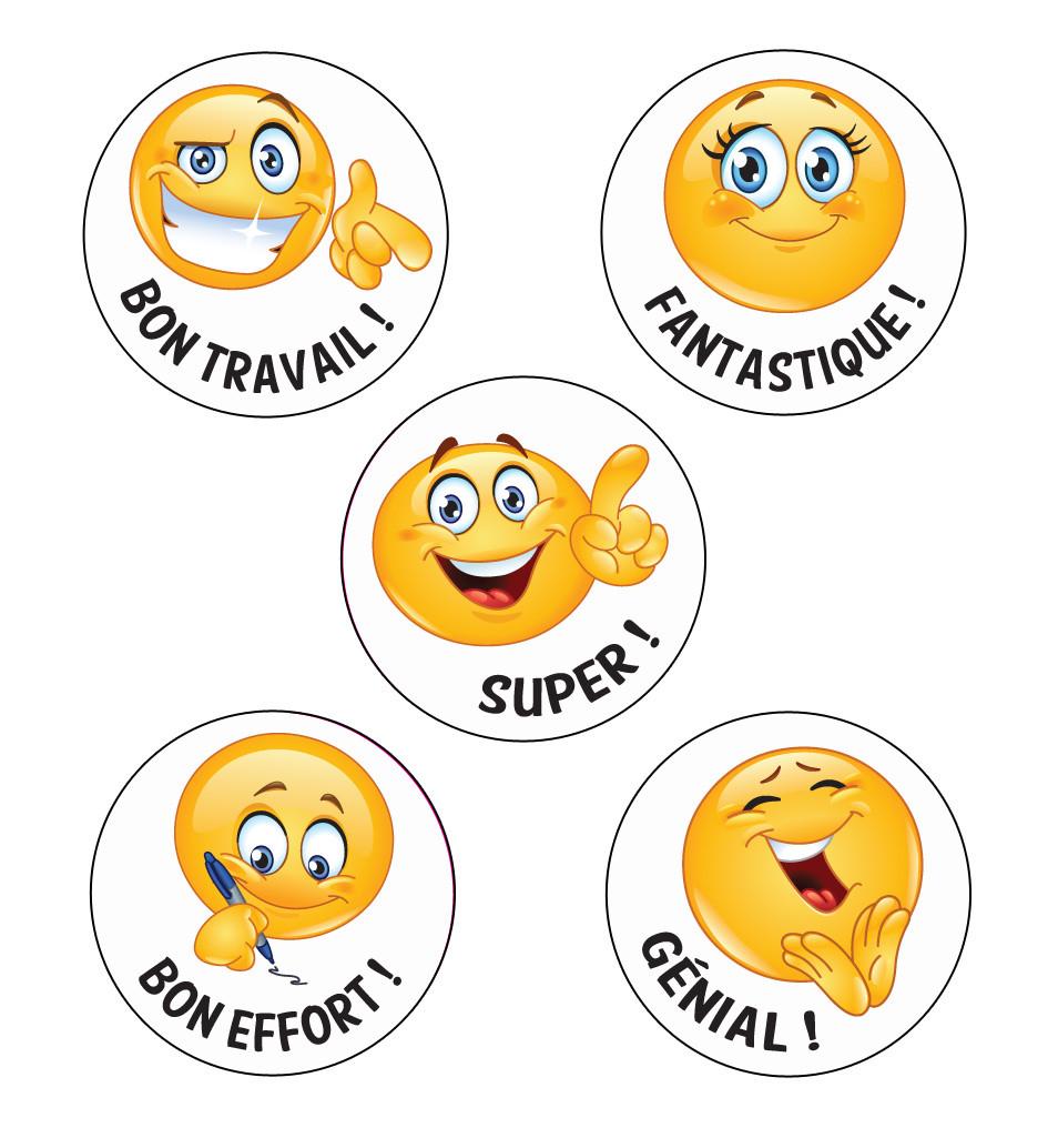 autocollants bon travail emoji stickers en fran ais livraison gratuite. Black Bedroom Furniture Sets. Home Design Ideas
