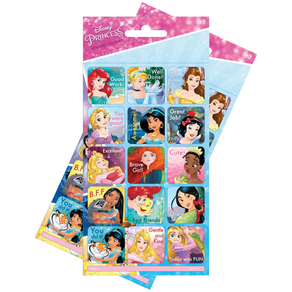 Disney Princess Re Usable Large Reward Stickers 2 Packs