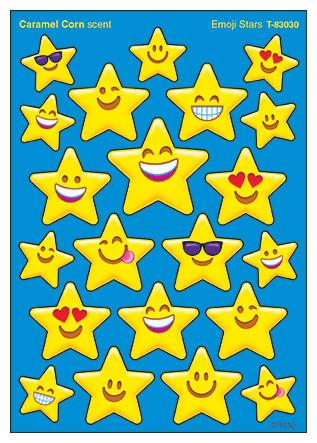 Emoji Stars Caramel Corn Scented Stickers