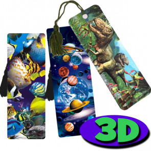 3D Bookmarks | Dazzling Dinosaurs, Tropical Fish & Stunning Space Designs