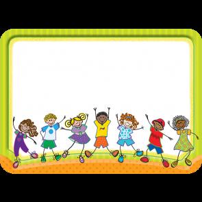 Étiquettes / Badges Autocollants | Motif Fantastiques Enfants.