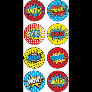 Reward Stickers | Superhero Superpower Mini Reward Stickers