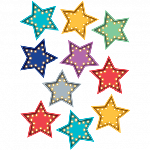 Display Cut Out Cards | 30 Marquee Star Cut Outs