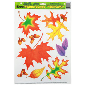 Classroom Display | Autumn Leaves Window Clings