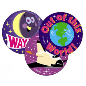 Kids Stickers | Earth & Space Smelly Stickers for Kids (Grape Scented)