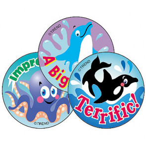 Sea Animals Scratch and Sniff Stickers (Blueberry Scented)