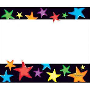 Étiquettes / Badges Autocollants | Motif Étoiles Précieuses.