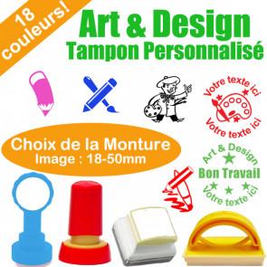 Tampon Personnalisé Enseignants | Tampon Encreur Sujet Art & Design